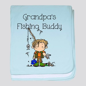 Grandpa's Fishing Buddy baby blanket